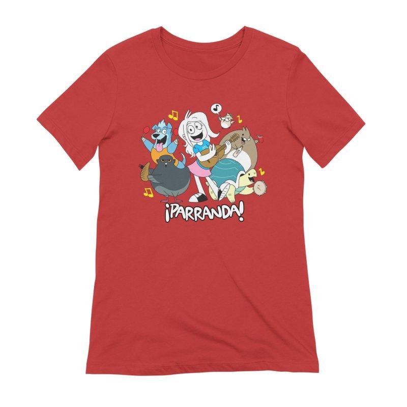 PARRANDA PALS Women's Extra Soft T-Shirt by Tripleta Gourmet Clothing