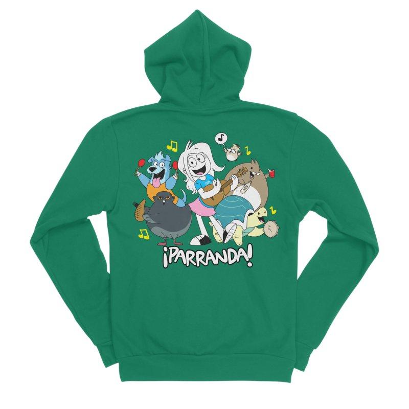 PARRANDA PALS Men's Sponge Fleece Zip-Up Hoody by Tripleta Gourmet Clothing