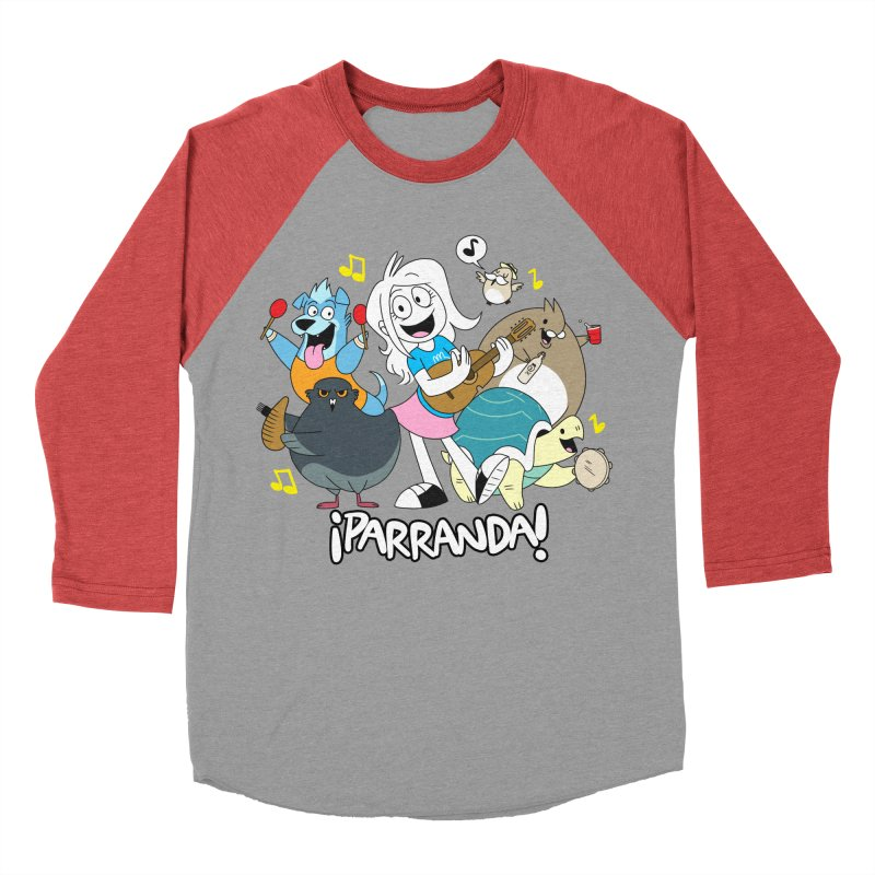 PARRANDA PALS Women's Baseball Triblend Longsleeve T-Shirt by Tripleta Gourmet Clothing