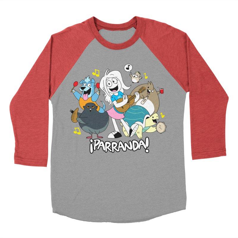 PARRANDA PALS Men's Baseball Triblend Longsleeve T-Shirt by Tripleta Gourmet Clothing
