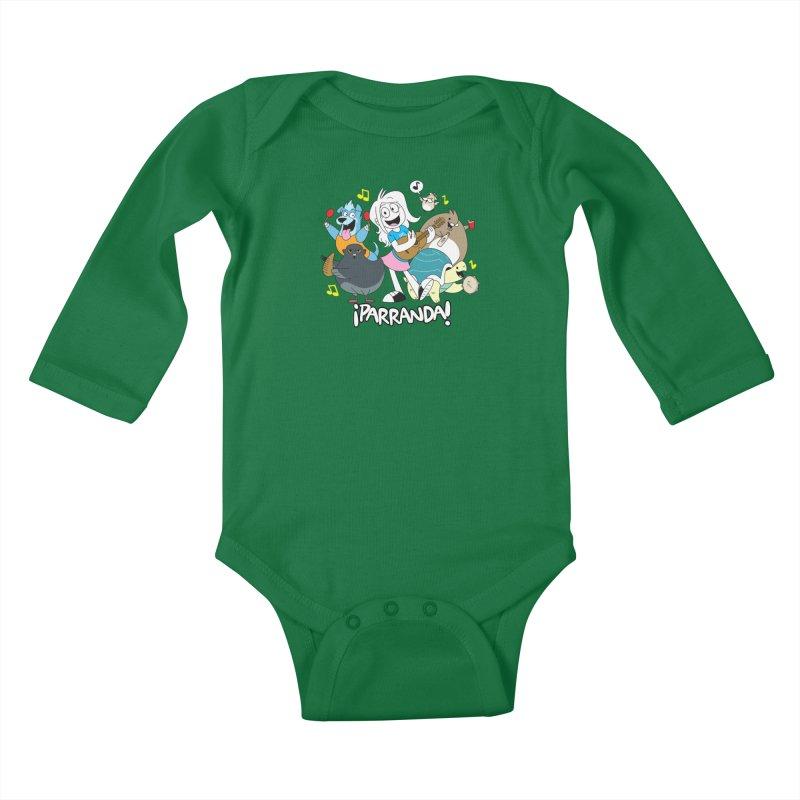 PARRANDA PALS Kids Baby Longsleeve Bodysuit by Tripleta Gourmet Clothing