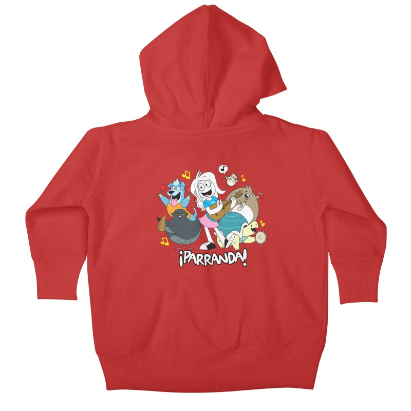 PARRANDA PALS Kids Baby Zip-Up Hoody by Tripleta Gourmet Clothing