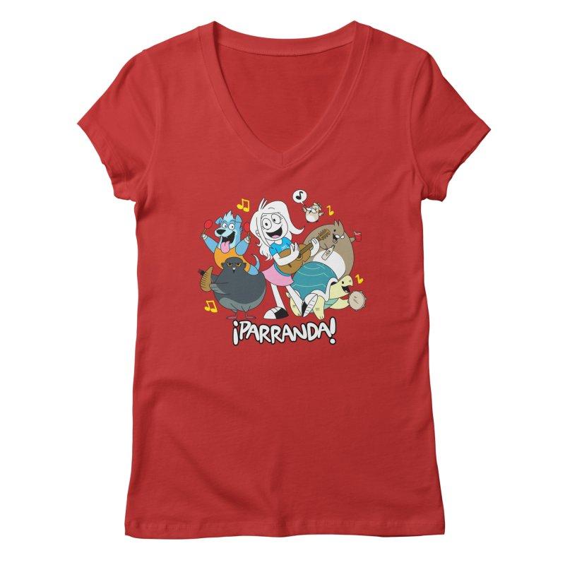PARRANDA PALS Women's Regular V-Neck by Tripleta Gourmet Clothing