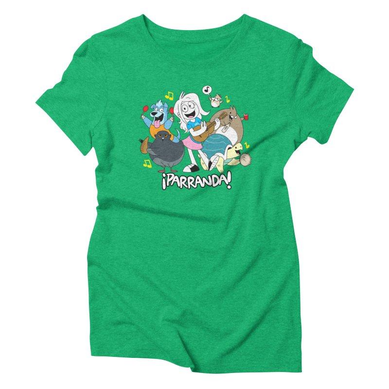 PARRANDA PALS Women's Triblend T-Shirt by Tripleta Gourmet Clothing