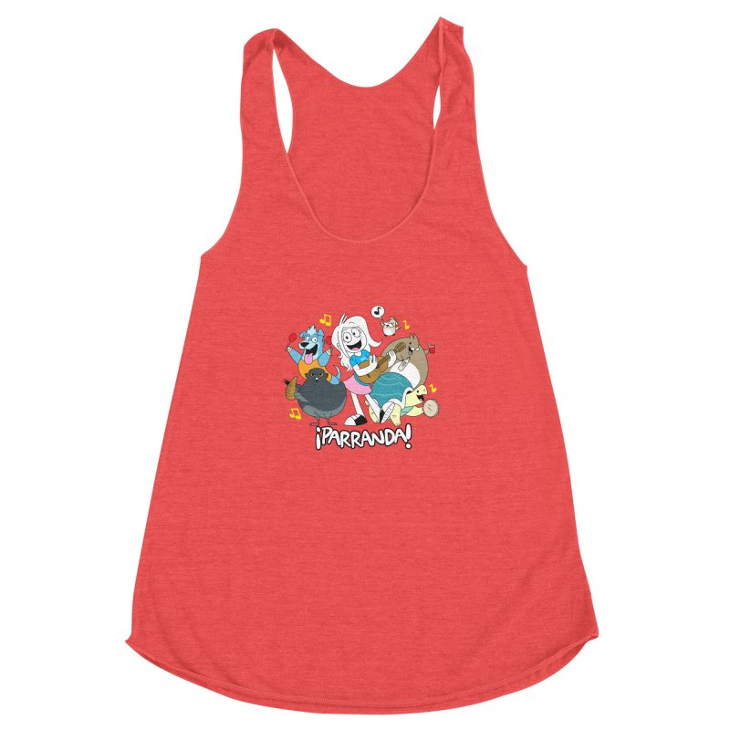 PARRANDA PALS Women's Racerback Triblend Tank by Tripleta Gourmet Clothing