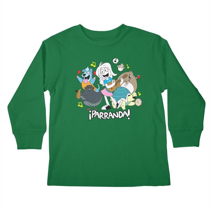 PARRANDA PALS Kids Longsleeve T-Shirt by Tripleta Gourmet Clothing