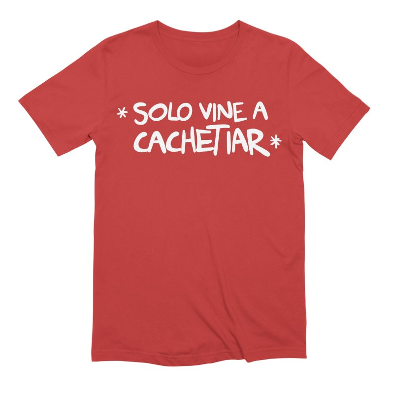 CACHETE in Men's Extra Soft T-Shirt Red by Tripleta Gourmet Clothing