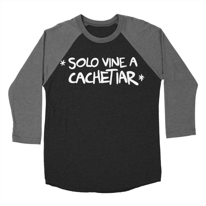 CACHETE Women's Baseball Triblend Longsleeve T-Shirt by Tripleta Studio Shop