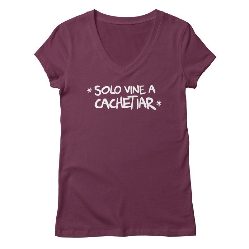 CACHETE Women's Regular V-Neck by Tripleta Gourmet Clothing