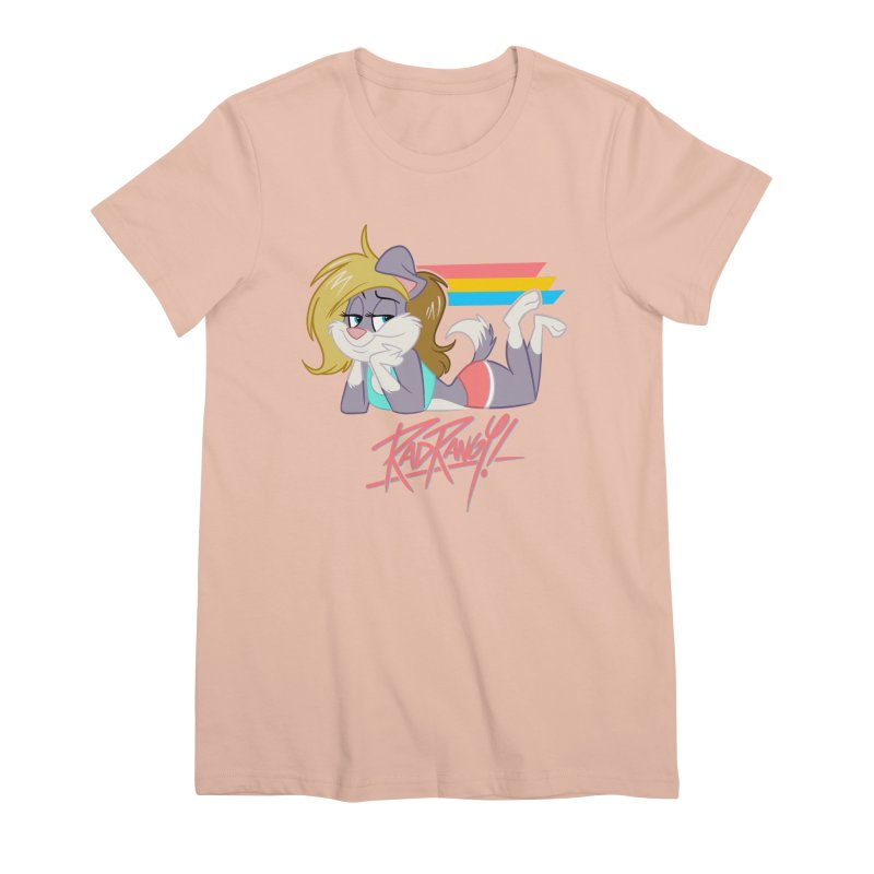 RAD ROUGEE TOON Women's Premium T-Shirt by Tripleta Studio Shop