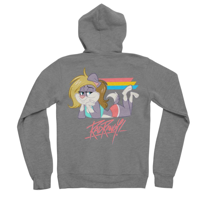 RAD ROUGEE TOON Men's Sponge Fleece Zip-Up Hoody by Tripleta Studio Shop