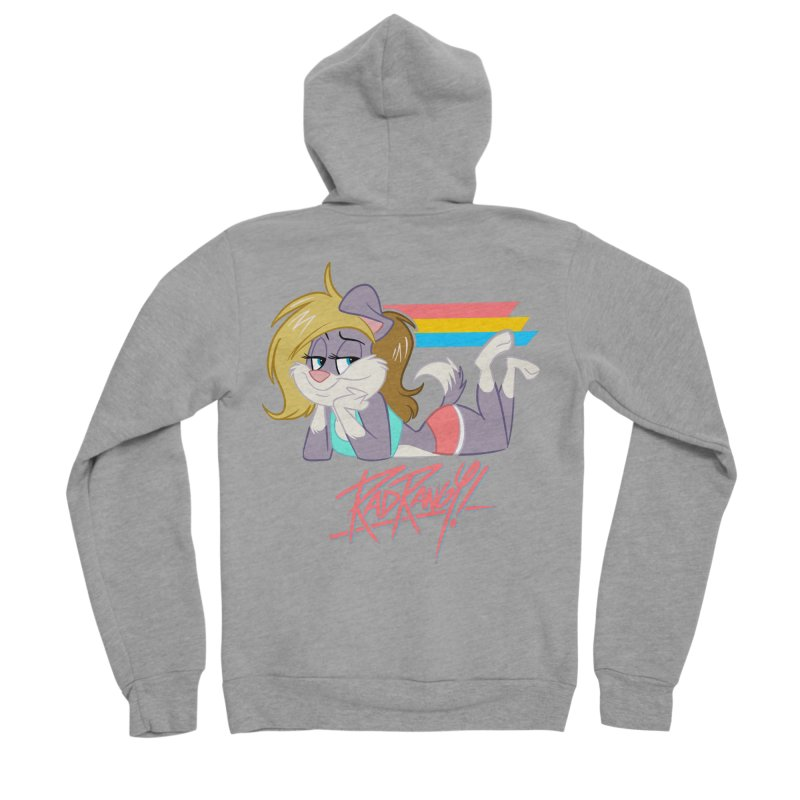 RAD ROUGEE TOON Women's Sponge Fleece Zip-Up Hoody by Tripleta Studio Shop