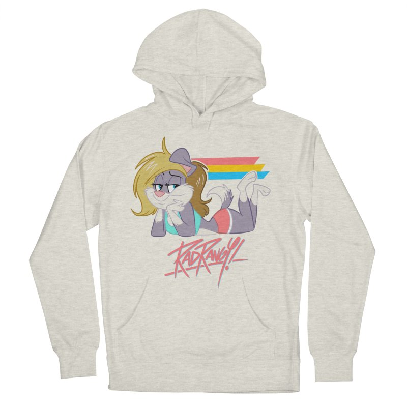 RAD ROUGEE TOON Women's French Terry Pullover Hoody by Tripleta Studio Shop