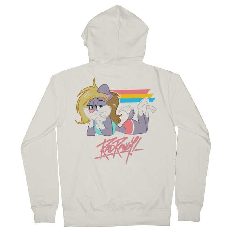 RAD ROUGEE TOON Women's French Terry Zip-Up Hoody by Tripleta Studio Shop