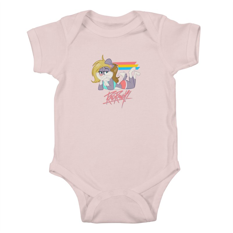 RAD ROUGEE TOON Kids Baby Bodysuit by Tripleta Studio Shop