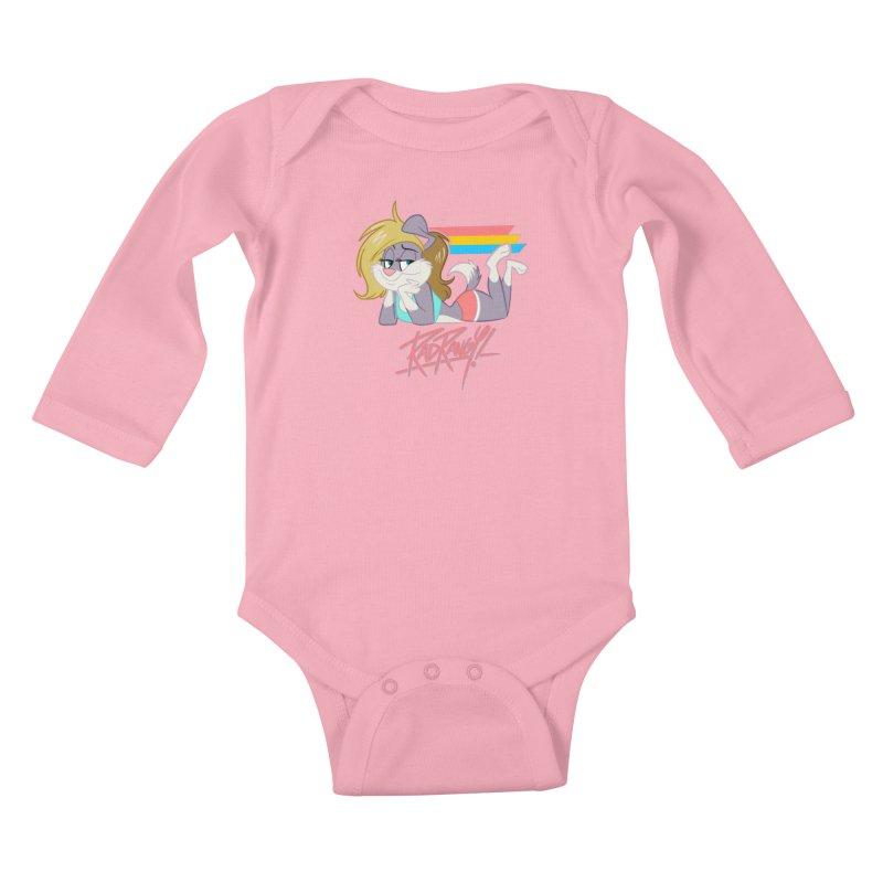 RAD ROUGEE TOON Kids Baby Longsleeve Bodysuit by Tripleta Studio Shop