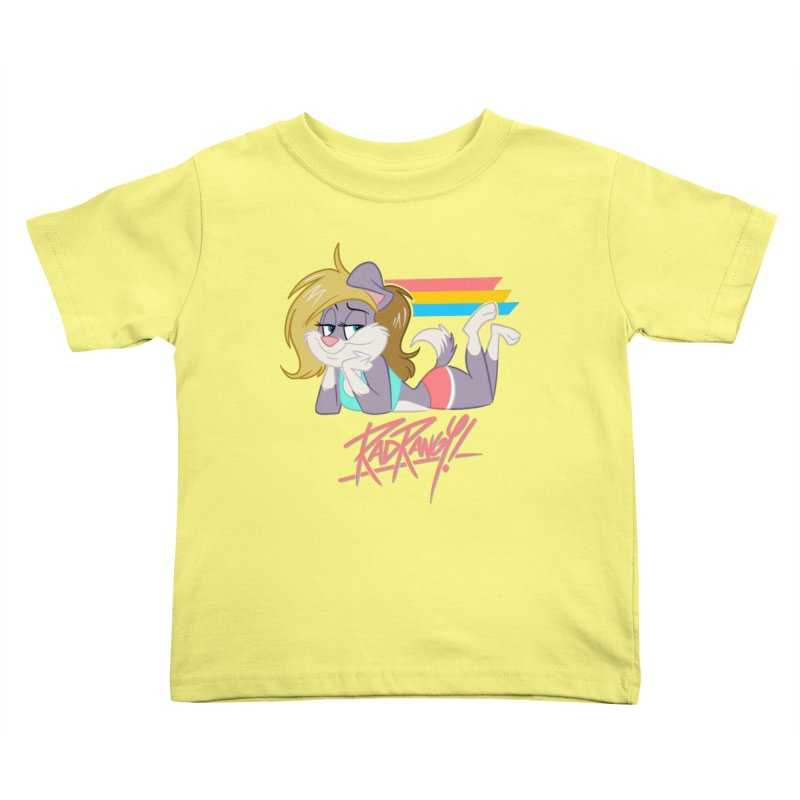 RAD ROUGEE TOON Kids Toddler T-Shirt by Tripleta Studio Shop
