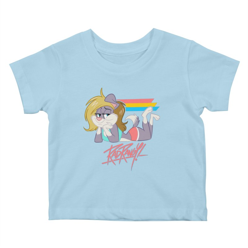 RAD ROUGEE TOON Kids Baby T-Shirt by Tripleta Studio Shop
