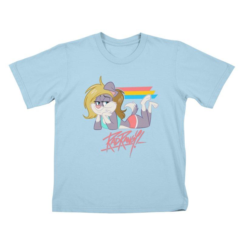 RAD ROUGEE TOON Kids T-Shirt by Tripleta Studio Shop
