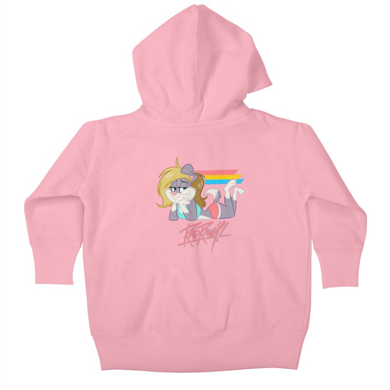 RAD ROUGEE TOON Kids Baby Zip-Up Hoody by Tripleta Studio Shop