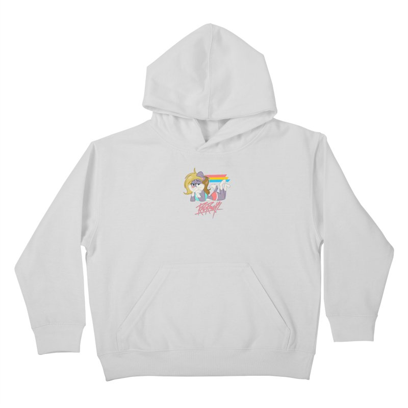 RAD ROUGEE TOON Kids Pullover Hoody by Tripleta Studio Shop