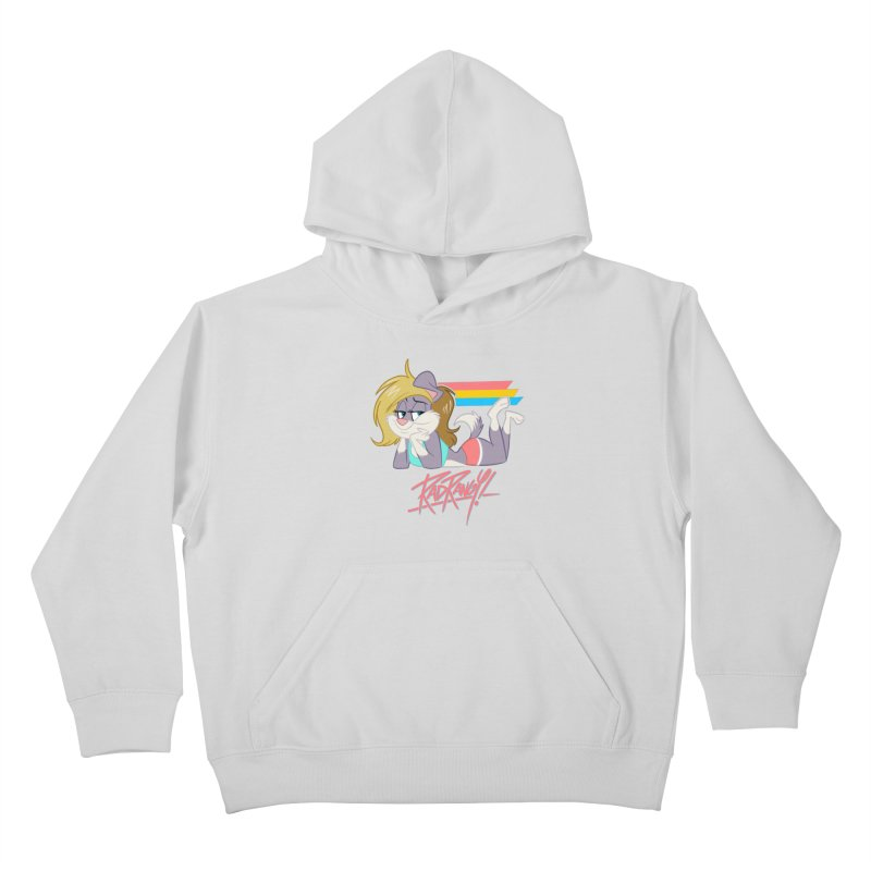 RAD ROUGEE TOON Kids Pullover Hoody by Tripleta Studio Shop