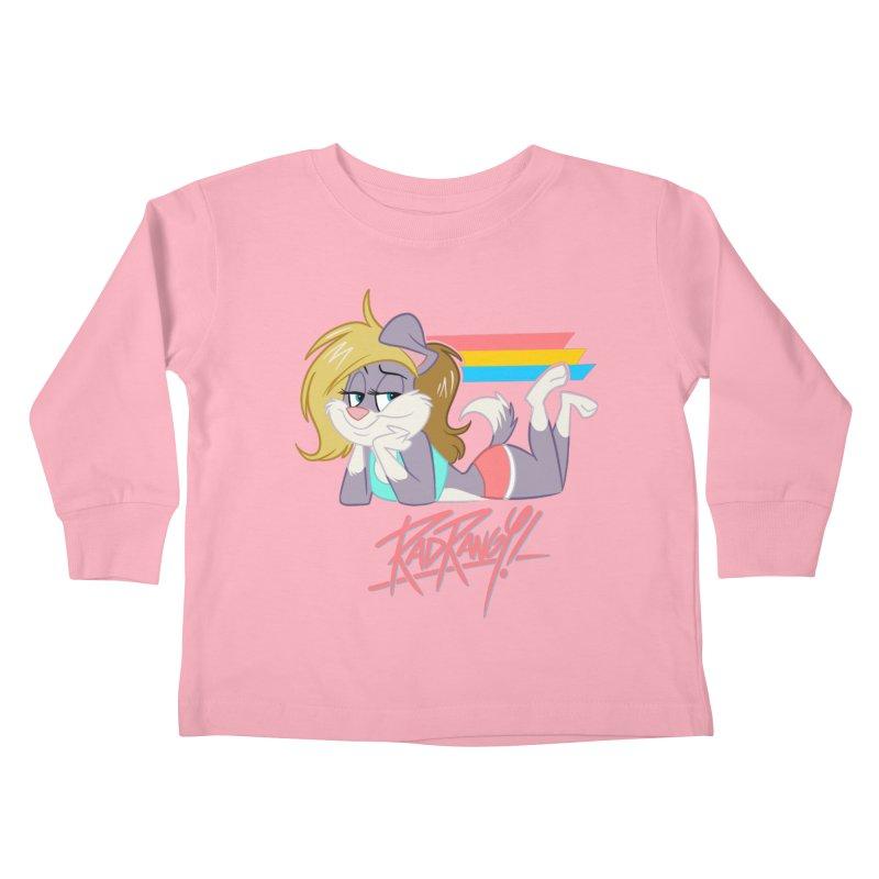 RAD ROUGEE TOON Kids Toddler Longsleeve T-Shirt by Tripleta Studio Shop