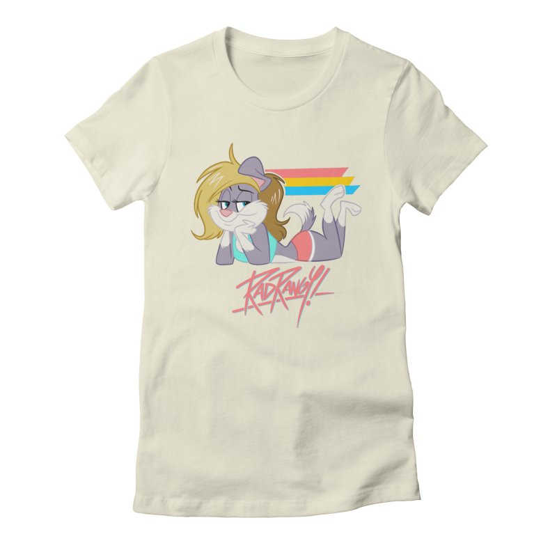 RAD ROUGEE TOON Women's Fitted T-Shirt by Tripleta Studio Shop