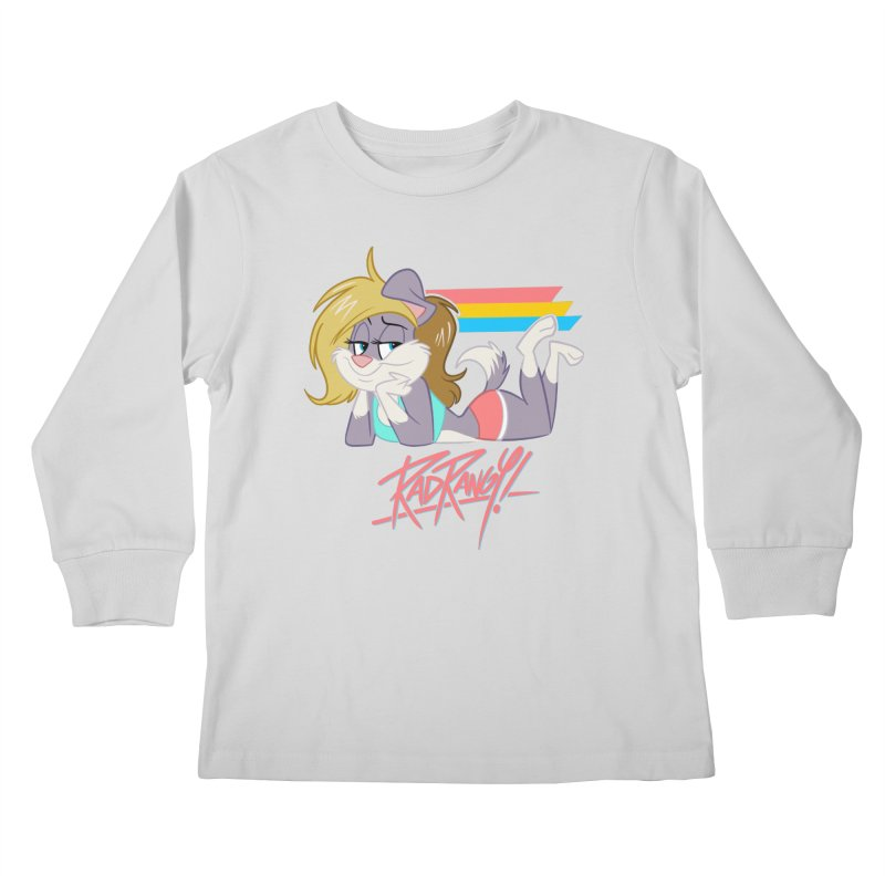 RAD ROUGEE TOON Kids Longsleeve T-Shirt by Tripleta Studio Shop
