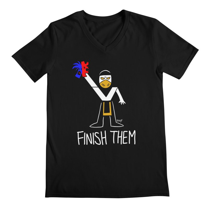FLAWLESS VICTORY Men's V-Neck by Tripleta Studio Shop