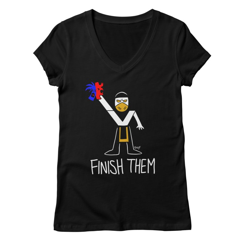 FLAWLESS VICTORY Women's Regular V-Neck by Tripleta Studio Shop