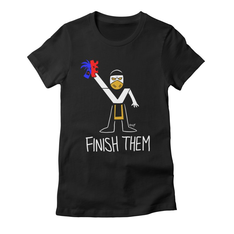 FLAWLESS VICTORY Women's Fitted T-Shirt by Tripleta Studio Shop
