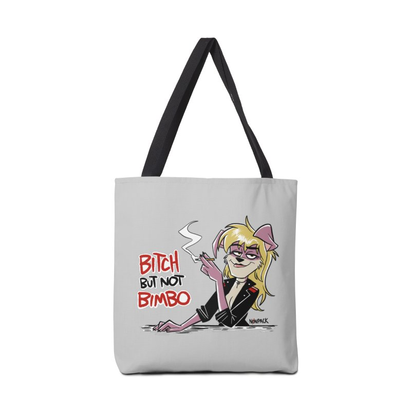 BITCH BUT NOT BIMBO Accessories Tote Bag Bag by Tripleta Studio Shop
