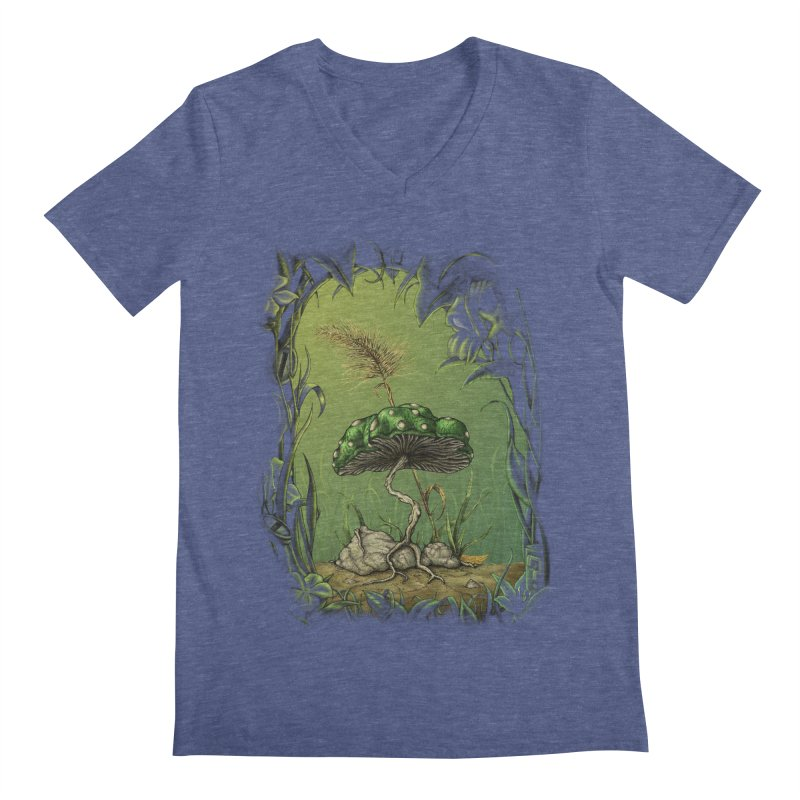 Mario 1-Up Mushroom Men's V-Neck by tristan's Artist Shop