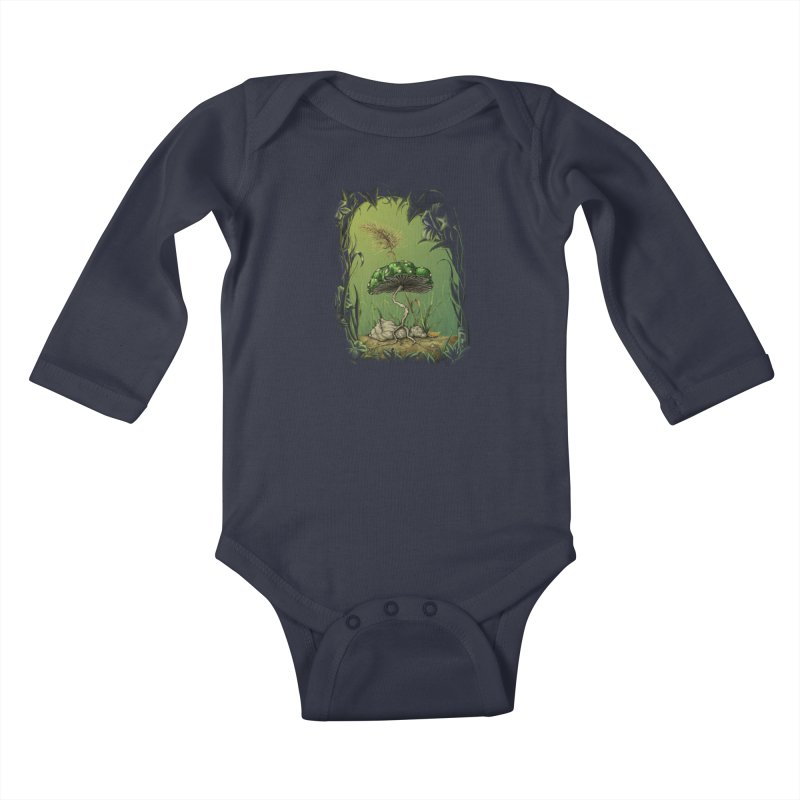 Mario 1-Up Mushroom Kids Baby Longsleeve Bodysuit by tristan's Artist Shop