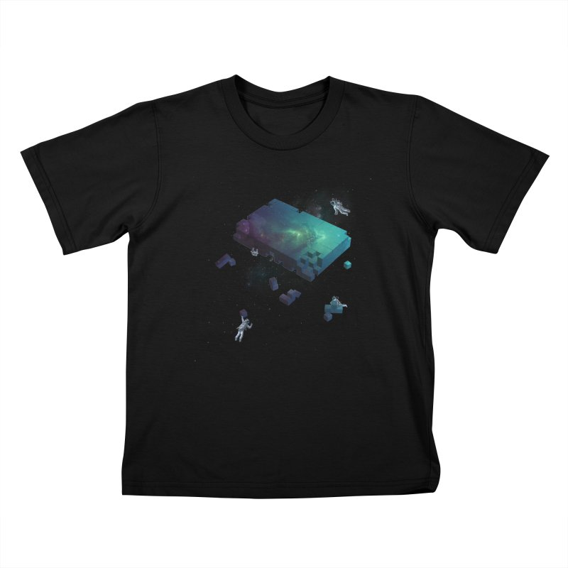 Constructing the Cosmos Kids T-shirt by tristan's Artist Shop