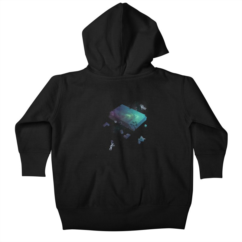 Constructing the Cosmos Kids Baby Zip-Up Hoody by tristan's Artist Shop