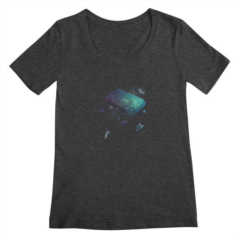 Constructing the Cosmos Women's Scoopneck by tristan's Artist Shop