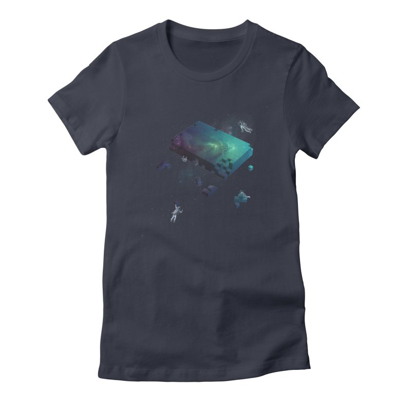 Constructing the Cosmos Women's Fitted T-Shirt by tristan's Artist Shop