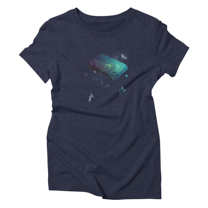Constructing the Cosmos Women's Triblend T-Shirt by tristan's Artist Shop