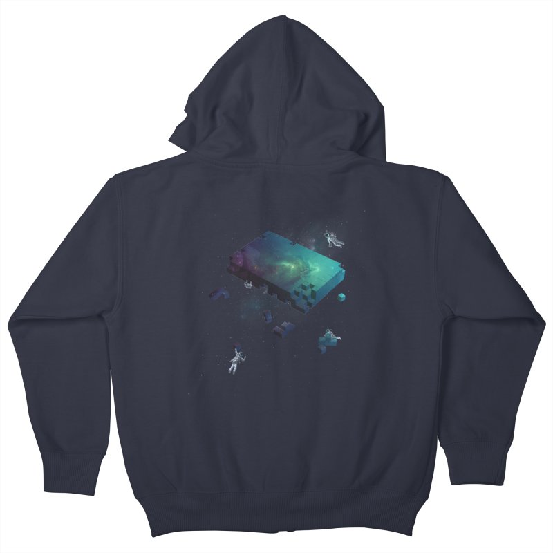 Constructing the Cosmos Kids Zip-Up Hoody by tristan's Artist Shop