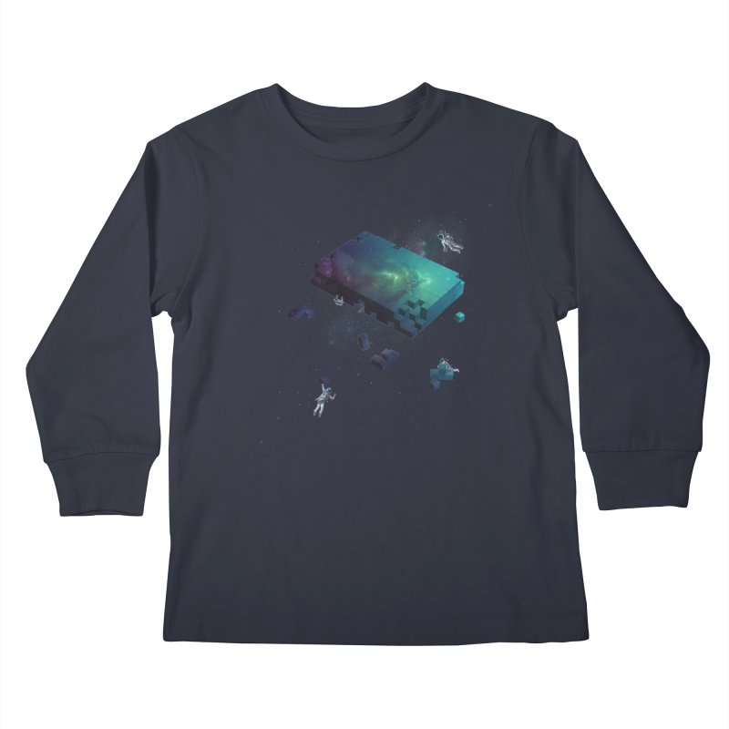 Constructing the Cosmos Kids Longsleeve T-Shirt by tristan's Artist Shop