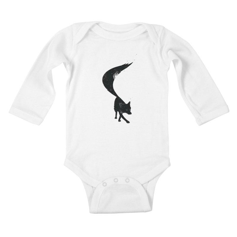 Foxstellation Kids Baby Longsleeve Bodysuit by tristan's Artist Shop