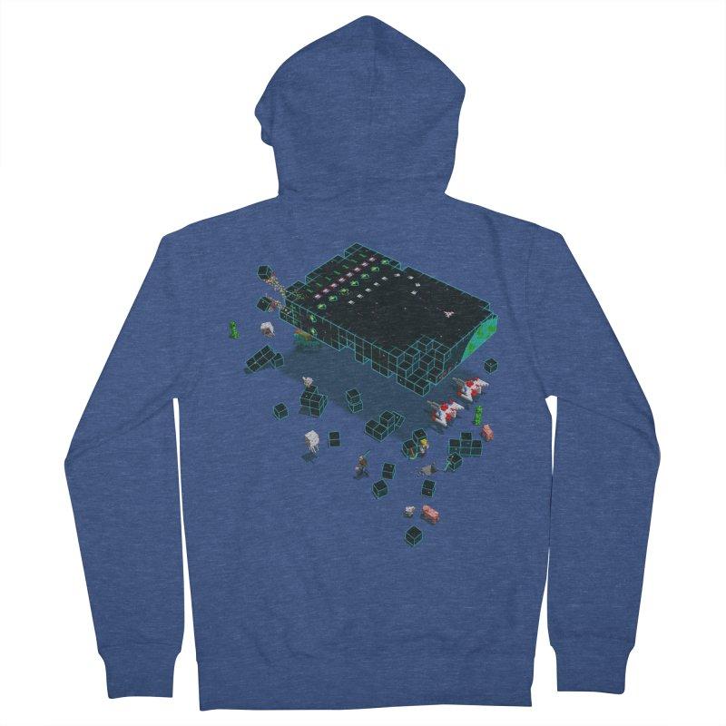 Galaga Craft Men's Zip-Up Hoody by tristan's Artist Shop