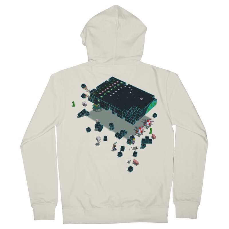 Galaga Craft Men's Zip-Up Hoody by tristan's Artist Shop
