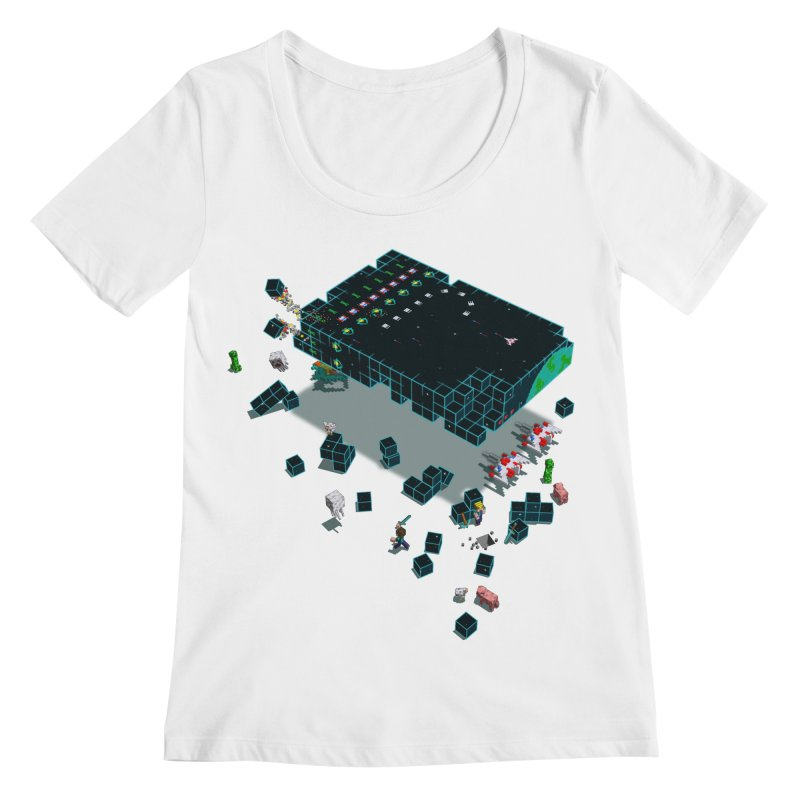 Galaga Craft Women's Scoopneck by tristan's Artist Shop