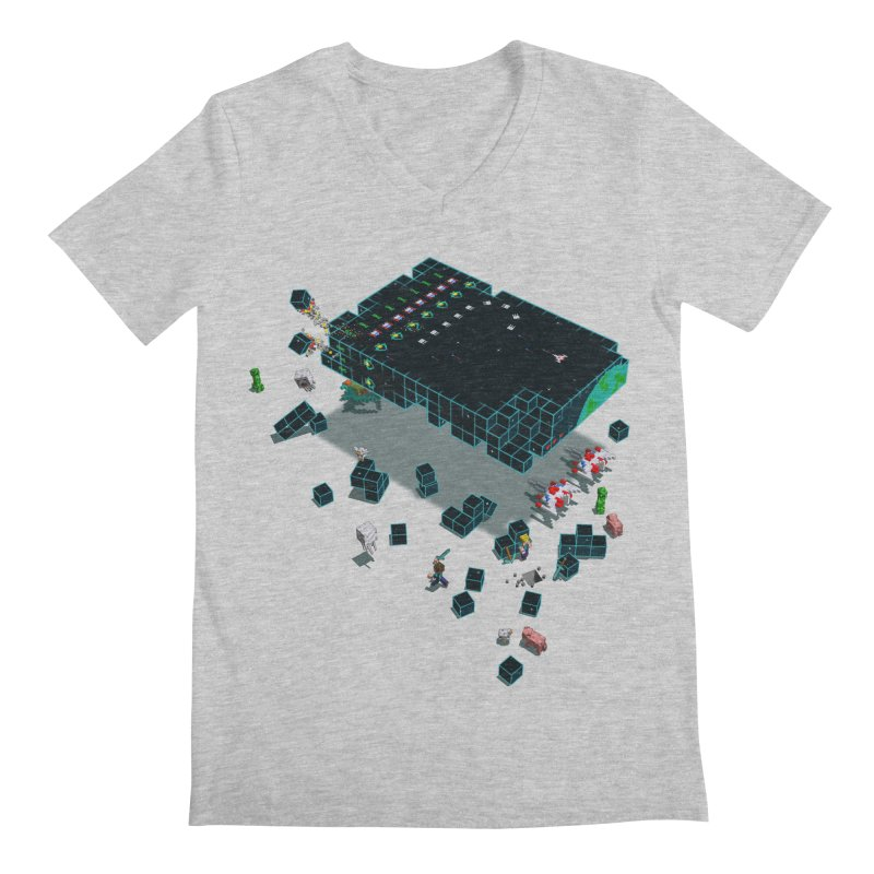 Galaga Craft Men's V-Neck by tristan's Artist Shop