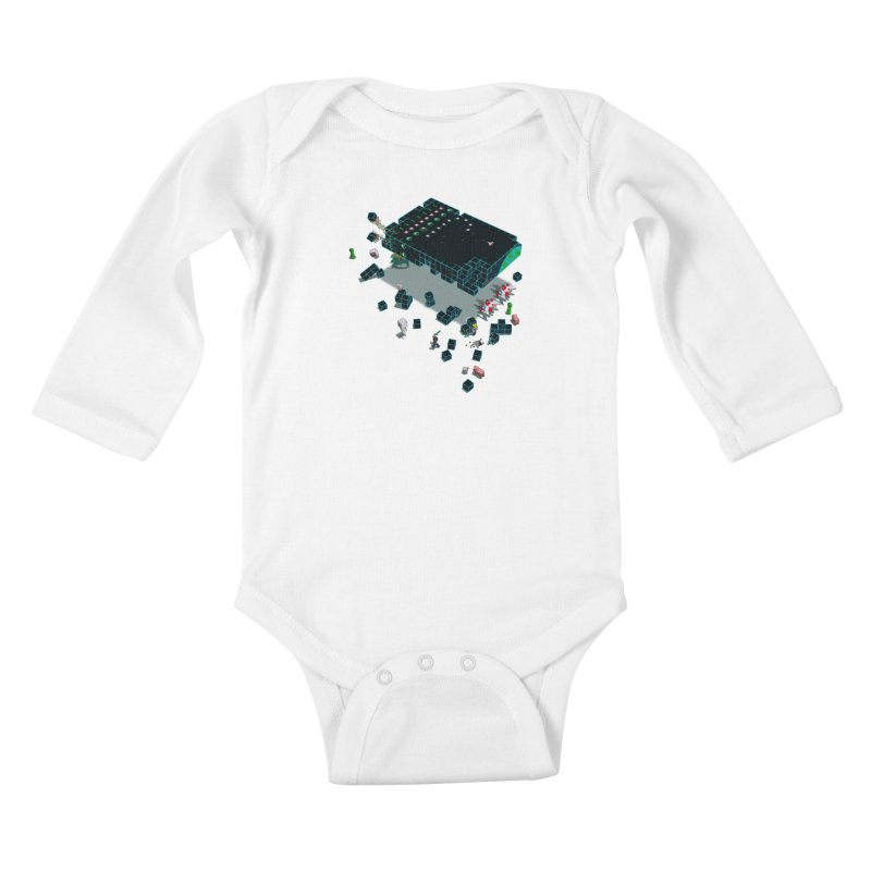 Galaga Craft Kids Baby Longsleeve Bodysuit by tristan's Artist Shop