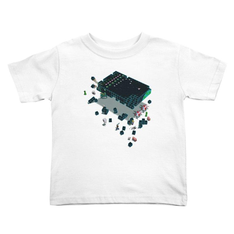 Galaga Craft Kids Toddler T-Shirt by tristan's Artist Shop