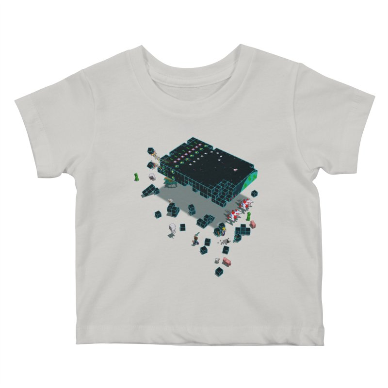 Galaga Craft Kids Baby T-Shirt by tristan's Artist Shop